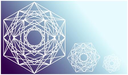 Fond bleu de la géométrie