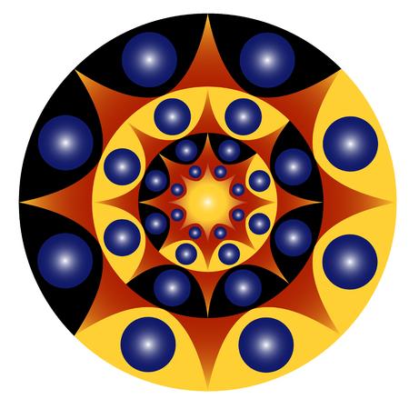 Mandala de cercle de jour et de nuit