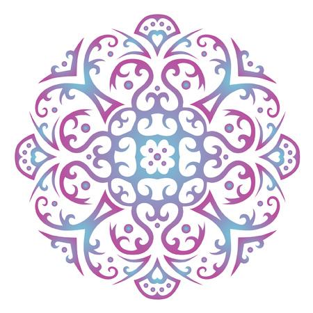 Ornament mandala pattern on white background 向量圖像