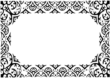 Black ornament frame keyword