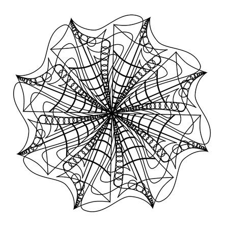 Mandala abstrait de coquille de mer