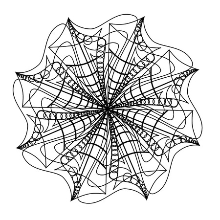 Zeeschelp abstracte mandala