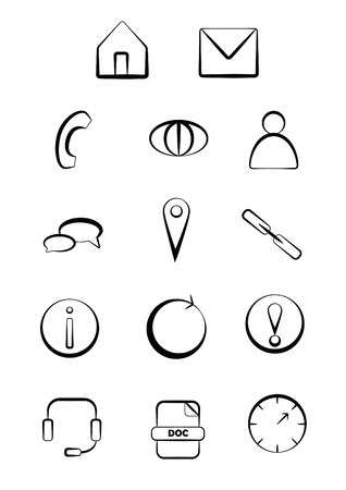 Vector web and business icons