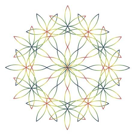 Color vector line mandala