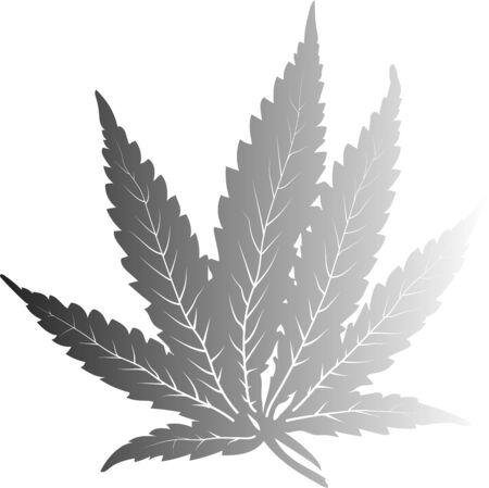 Vector cannabis simple leave Stock Vector - 131422140