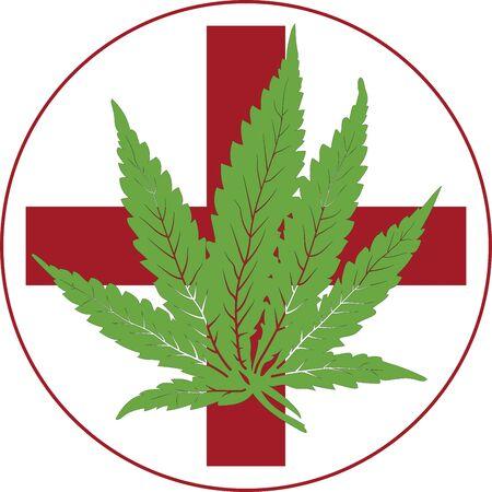 Vector green medical cannabis