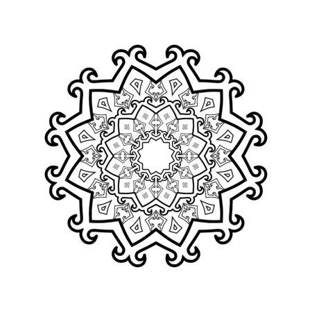Beautiful ornamental mandala pattern Banque d'images - 132243309