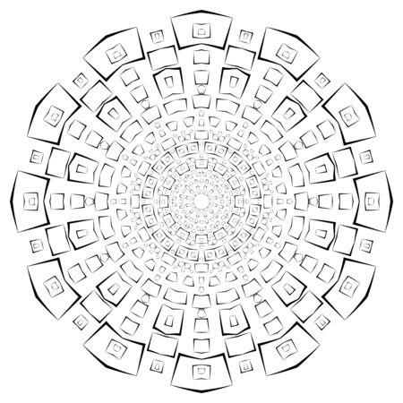Black Vector Ancient Square Mandala Banque d'images - 132246160
