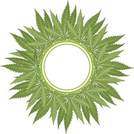 Cannabis Vector Green Circle Frame