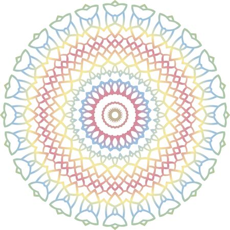 Vector isolated mandala pattern