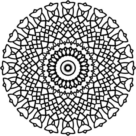 Vector black mandala pattern