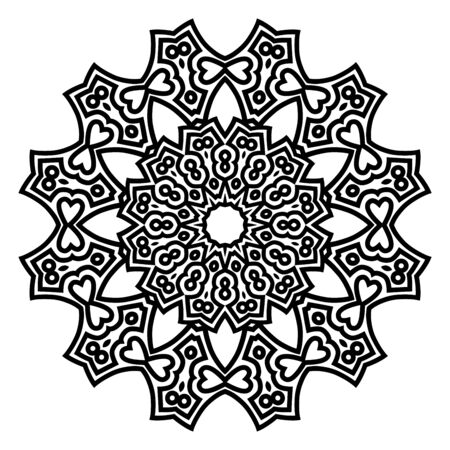 Vector black mandala ornament
