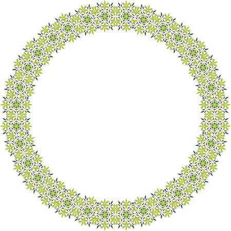 Black and green vector mandala frame Ilustrace