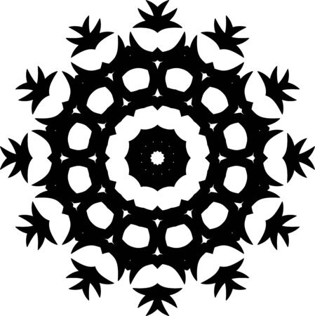 Simple black mandala icon on white background Illusztráció