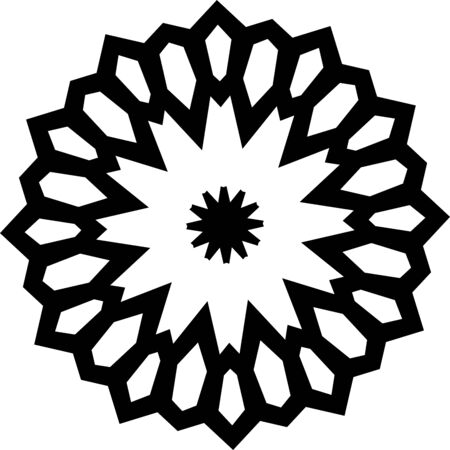 Simple flower mandala icon isolated on white background Illusztráció