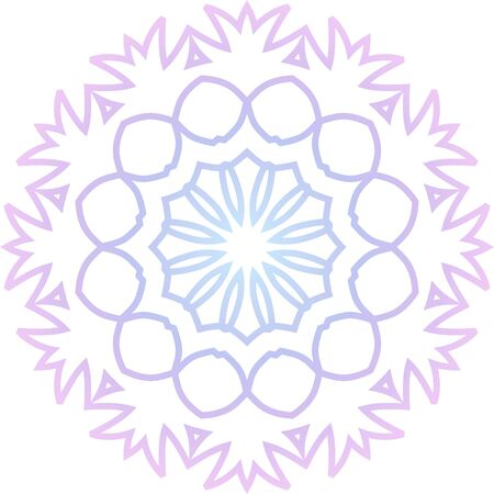 Color simple mandala icon on white background