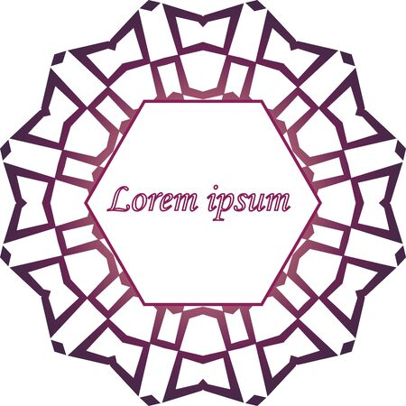 Purple web mandala label template