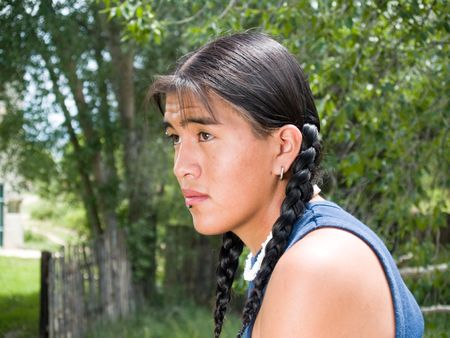 Handsome Native American 15 year old teenage boy photo