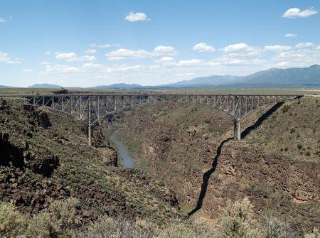 Rio Grande Gorge Bridge, part of highway 64 in Taos County, New Mexico.