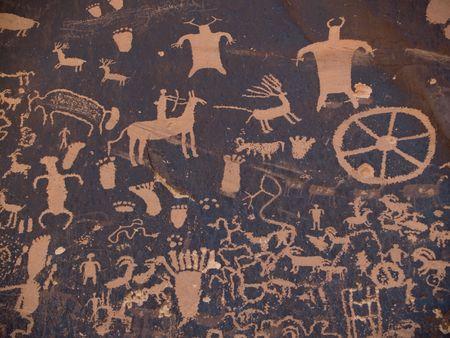 Native American petroglyph, Newpaper Rock, Utah