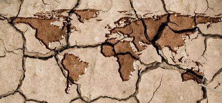 sequ�a: Ilustraci�n de un concepto de escasez de agua potable global.  Foto de archivo