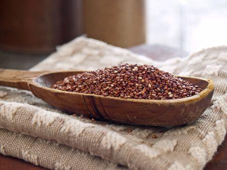 red quinoa: Red quinoa - a gluten-free cereal grain Stock Photo