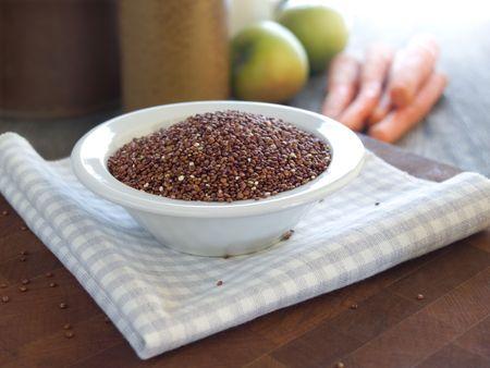 Red quinoa - a gluten-free cereal grain Stock Photo