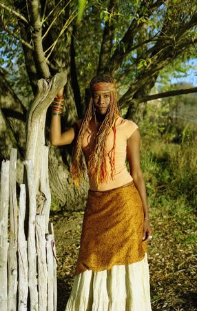 Beautiful African American Woman photo