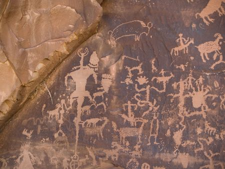 Native American petroglyph, Newspaper Rock, Utah photo
