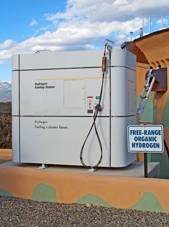 Fully functional hydrogen fueling station for vehicles       photo