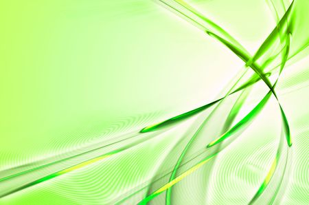feathery: Green feathery or leafy abstract illustration