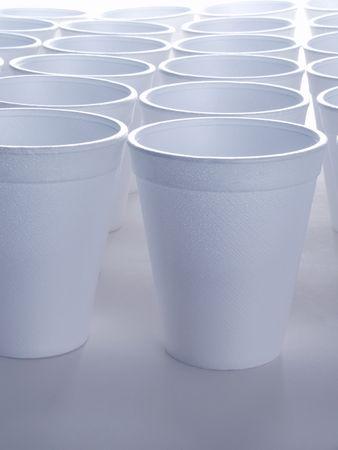 복사 공간이없는 재활용 할 수없는 폴리스티렌 거품 컵