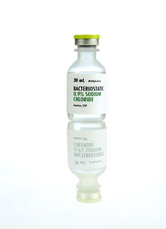 0.9% sodium chloride solution for intravenous hydration. The generic label  was made for the