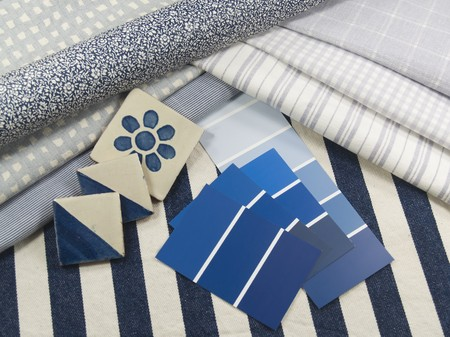 Blue interior decoration plan Stock Photo - 7317169