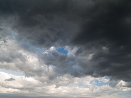unpredictable: Stormy clouds on summer evening.