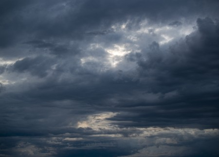 bad condition: Stormy clouds at sunset