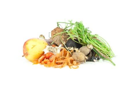 desechos organicos: Mont�n de compost para jardiner�a org�nica y biodin�mica