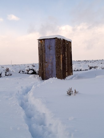 Winter Outhouse photo
