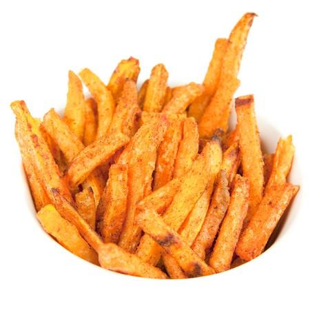 Zoete aard appel frietjes  Stockfoto