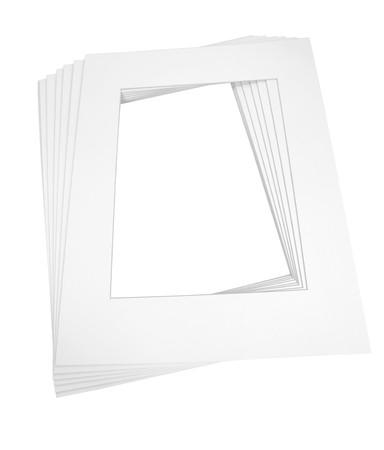 whitern: Mat boards for framing art Stock Photo