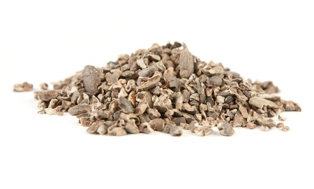Cacao nibs isolated on white Stock Photo - 9011830
