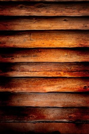 이전 로그 오두막 나무 벽 배경 또는 배경