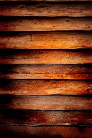 Old log cabin wood wall background or backdrop