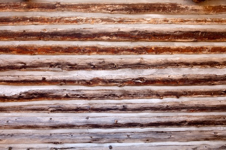 log cabin: Old log cabin wood wall background or backdrop