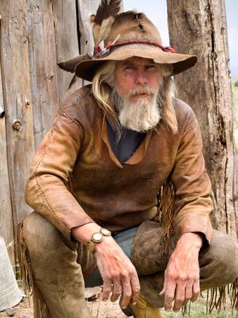 Cowboy of een berg man