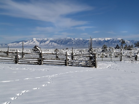 Winter in Taos County, New Mexico Stock Photo