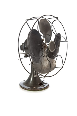 Old vintage metal fan isolated on white Stock Photo - 12323205