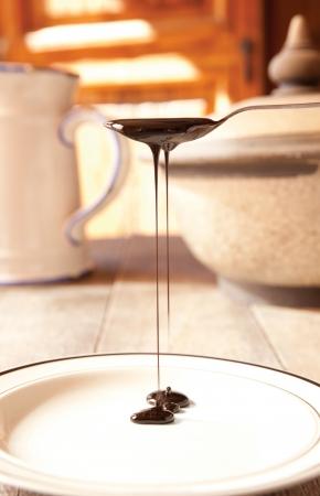 Rummelasse druilerige van een theelepel