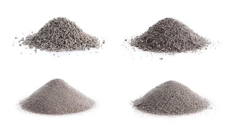 non toxic: No procesado de mineral de perlita grados en sentido horario desde la parte superior izquierda 8 12, 12 16, 16 30 y 30 Foto de archivo