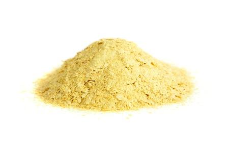 levadura: La levadura nutricional, fuente natural de vitamina B Saccharomyces cerevisiae Foto de archivo